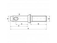 Z422284KR Sworzeń cięgła dolnego, drążka kierowniczego, 22 x 28 mm