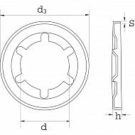 SL05RVS Pierścień zabezpieczający V2A Starlock, M5 - nierdzewny
