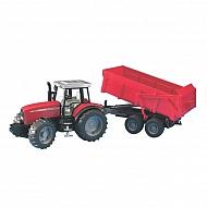 U02045 Traktor Massey Ferguson 7480 z przyczepą samorozładowczą