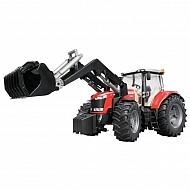 U03047 Zabawka ciągnik Massey Ferguson 7600 z ładowaczem