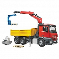 U03651 Zabawka ciężarówka dźwig - ładowacz MB Arocs