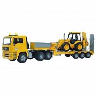 U02776 Ciężarówka MAN TGA z naczepą i ładowarką JCB