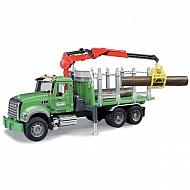U02824 Zabawka ciężarówka do przewozu drewna z żurawiem Mack Granite