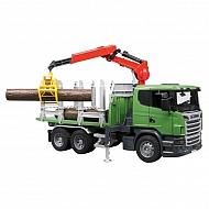 U03524 Zabawka ciężarówka do przewozu drewna z żurawiem Scania LKW