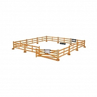 U62604 Ogrodzenie dla koni brązowe