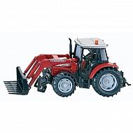 S03653 Traktor Massey Ferguson z ładowaczem, SIKU