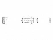 106210 Przyłącze węża proste pod nakrętke nasadową z pierścieniem uszczelniającym Arag, 10 mm, 1/2''