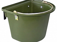 16233287 Pojemnik z zaczepami i pałąkiem, kolor zielony