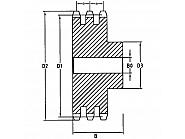 ST3413 Koło łańcuchowe