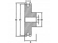 """SD113 Koło łańcuchowe standard. DIN 8187 podwójne 1"""" x 17,02 mm, 13 zębów"""