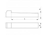 68876640 Klin wpuszczany Kramp, 6x6x40 mm
