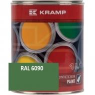 609008KR Lakier, farba pasujący do maszyn Bruns, zielony, zielona 1 L