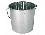 TZ1141 Wiadro ze stali szlachetnej z podziałką, 12,3 litra