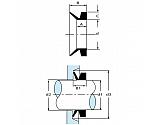 VR4AP010 Uszczelnienie klinowe Ø 4 mm