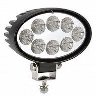 8-LED lampa robocza elipsa, 24W, 9-32V, 8 LED Promocja