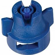 XRC11003VP Dysza płaskostrumieniowa 110° z nasadką, niebieska z tworzywa sztucznego