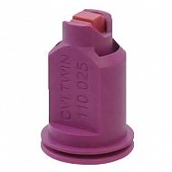 CVITWIN110025 Dysza wtryskiwacza 110°, ceramiczna, fioletowa