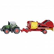S01808 Traktor Fendt z kopaczką do ziemniaków