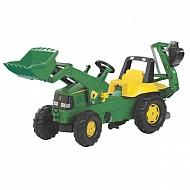 R81107 Traktor John Deere Trac z ładowaczem czołowym i koparką tylną