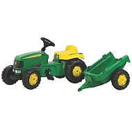 R01219 Traktor Rolly Kid John Deere z przyczepą