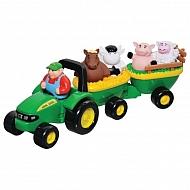 E42947 Zabawka Traktorek John Deere ze zwierzakami