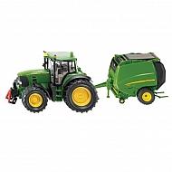 S01665 Traktor John Deere z prasą, SIKU