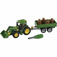 KL3905 Traktor John Deere z przyczepą