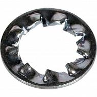 6798J10 Podkładka podatna wachlarzowa ząbkowana wewnętrznie ocynk Kramp, M10, 18,0 mm