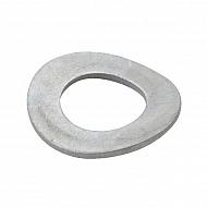 137B4 Podkładka podatna łukowa ocynk Kramp, M4, 9,0 mm