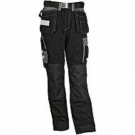19602830089098 Spodnie monterskie GWB, czarno-szare, roz. L