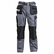 19602830090092 Spodnie monterskie GWB, szaro-czarne, roz. M