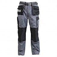 19602830090128 Spodnie monterskie GWB, szaro-czarne, roz. 4XL