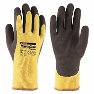 1950TWA10610 Rękawice PowerGrab Thermo żółte, rozmiar 10