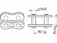 """Zamek łańcucha Steel Power 1.1/2"""", x 1"""" K3825"""