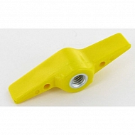 0016715 Nakrętka skrzydełkowa M8/żółta poliamid