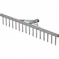 ES31000 Grabie ogrodowe aluminiowe, 16 zębów , 62 cm