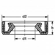 91201ZJ1841 Pierścień uszczelniający wału 38x58x9
