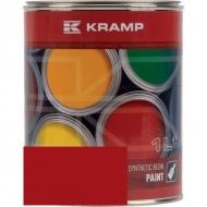 337008KR Lakier, farba pasuje do maszyn Mullos, czerwony, czerwona od roku 1989 1 L