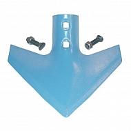 105000584 Gęsiostopa 26 cm x 8 mm niebieska, ze śrubami