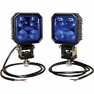 LA10002 Zestaw lamp roboczych LED, 9W 1000 lm, niebieskie