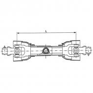PTO40T1010SBGP Wał Gopart, PTO 40 460 Nm, sprzeglo-kołek ścinany, L-1010 mm