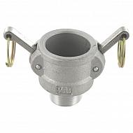 "HCN100BAL032 Gniazdo Camlock typ B aluminium, gwint zew. 1 1/4"""