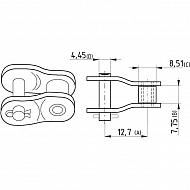 """8020K130812 Półogniwo wygięte, Steel Power, 1/2"""" x 5/16"""" K1308"""