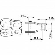 """8020K1308A12 Półogniwo wygięte, Steel Power, 1/2"""" x 5/16"""" K1308A"""