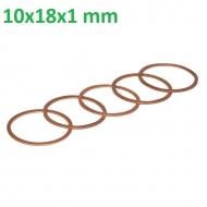 CU101810P025 Podkładka miedziana 10x18x1 mm