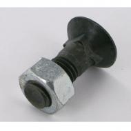 3015785N Śruba płużna 4-kątna z podsadzeniem, M12x30 mm kl. 12.9 z nakrętką