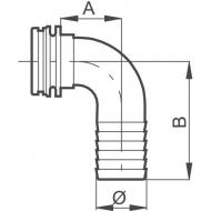 460140 Złącze węża 40mm