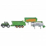 S01848 Traktor DEUTZ-FAHR z zestawem dodatkowych przyczep, SIKU
