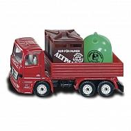 199100828 Ciężarówka z pojemnikami na odpady, SIKU