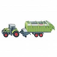 S01846 Traktor Claas z przyczepą, SIKU